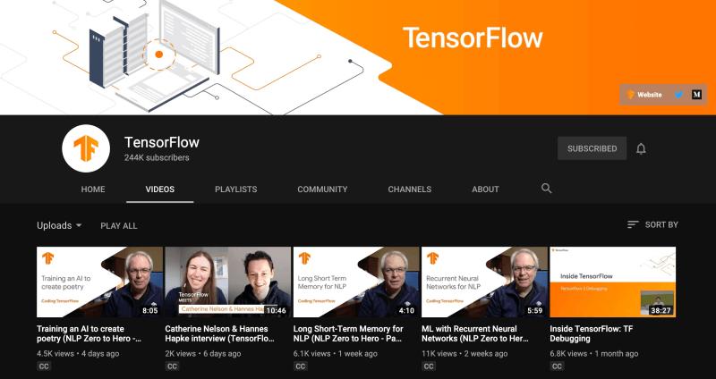 TensorFlow in Best Artificial IntelligenceYouTube Channel