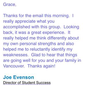Joe Evenson  testimonial