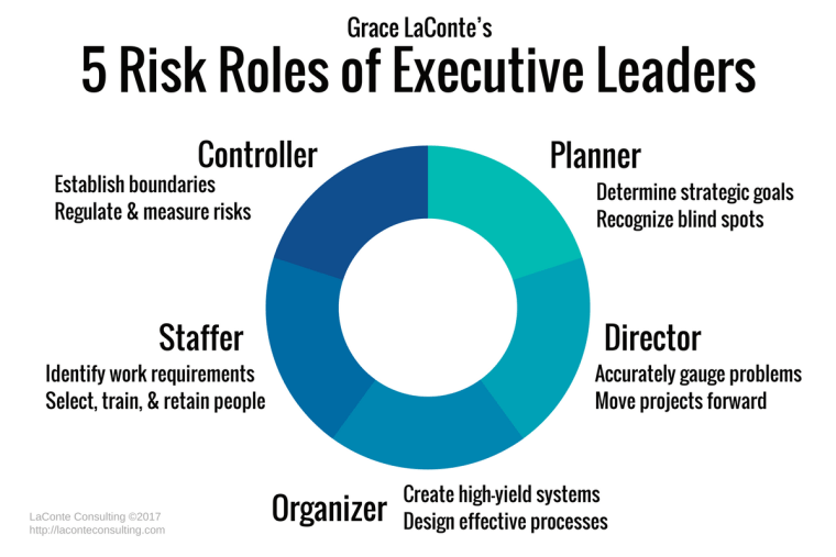 risk management, leadership, executive leaders, risk roles, planning