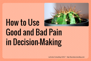 pain, good pain, bad pain, decision-making, painful, management, strategic risk