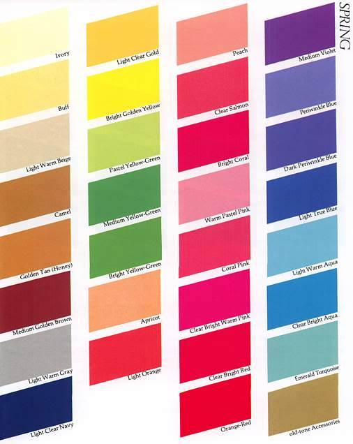 Color Me Beautiful, Carole Jackson, color theory, color swatches, color palette, color fan, color consult, beauty, beauty colors