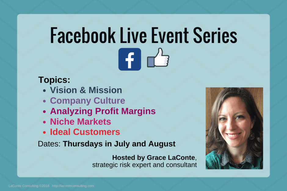 Facebook, Facebook Live, FB Live, FB Events, Facebook Events, Vision and Mission, Company Culture, Profit Margins, Niche Markets, Ideal Customers, FAQ, FAQs