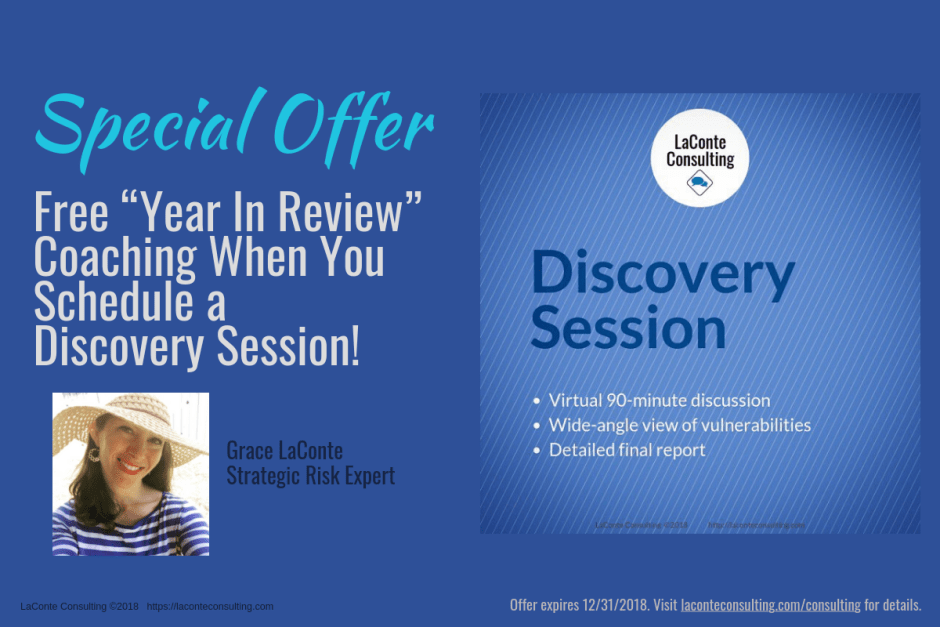Discovery Session, Special Offer, Year In Review, Year In Review Coaching, Coaching, LaConte Consulting, Grace LaConte, Virtual Coaching