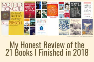 honest review, 21 books, 2018 book reviews, Grace LaConte, Grace LaConte review, book, book review, strategic risk