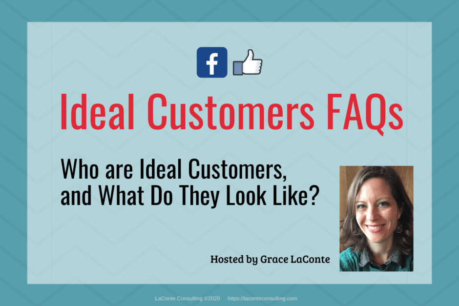 "Blue background with title ""Ideal Customers FAQs: Who are Ideal Customers?"""