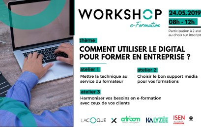 Workshop : Comment faire de l'E-Formation