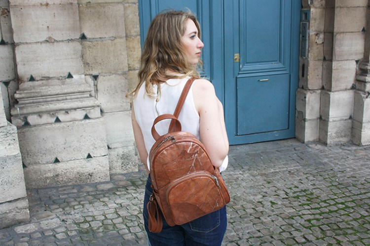 sac à dos vegan marron