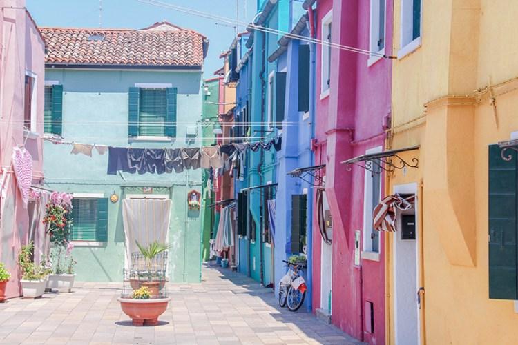 maisons colorées Burano venise