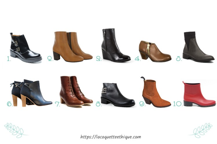 bottines vegan sélection