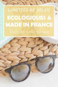 lunette de soleil écologique made in france