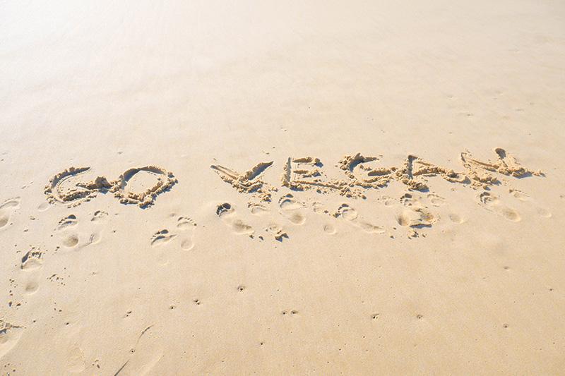 go vegan ecrit sable