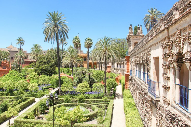 jardin alcazar seville andalousie vacances