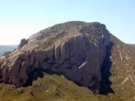 Penya Rueba, vista des de la Punta Mallafré