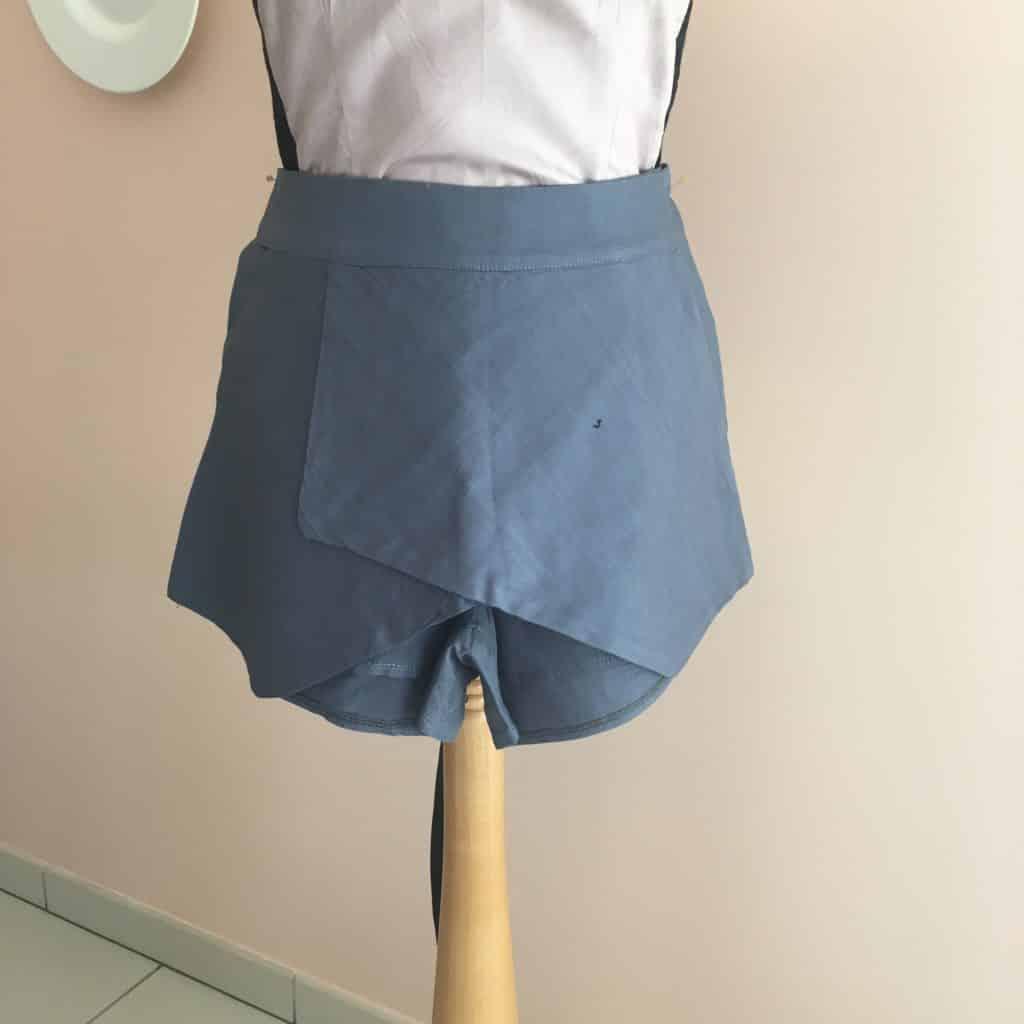 quelques ratés couture: la jupe short