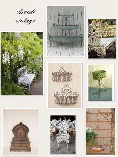 arredo giardino stile vintage