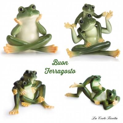 Franz Porcelain Frogs