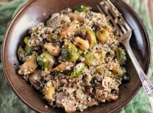 Quinoa – komosa ryżowa z brukselką i orzechami nerkowca