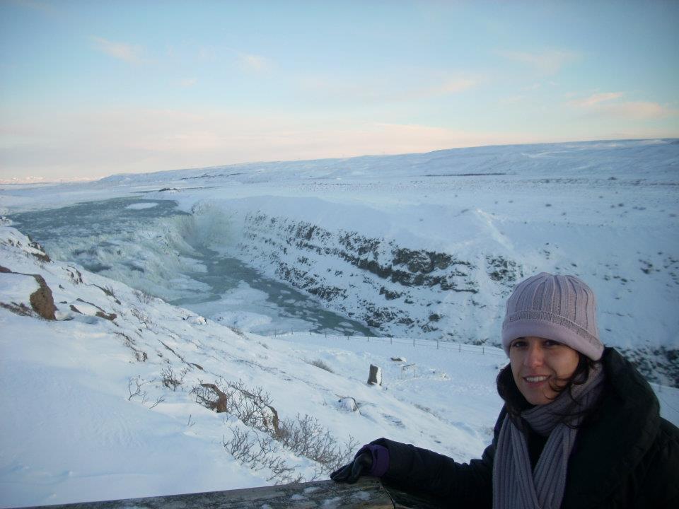 Cascada de Gullfoss, Islandia en invierno