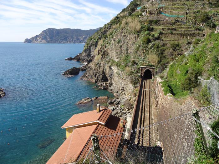 Vías del tren de Cinque Terre