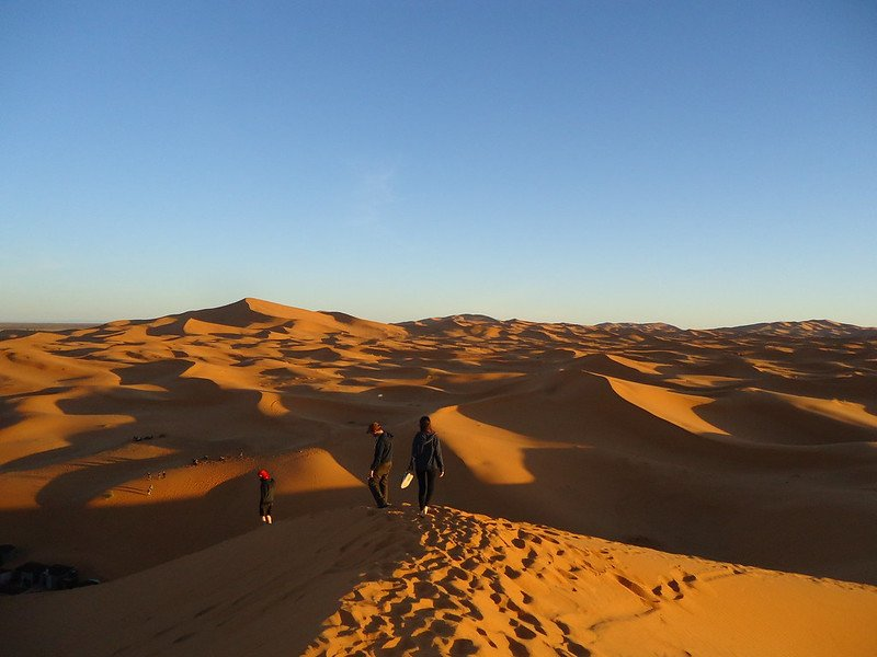 Desierto de Merzouga, sur de Marruecos