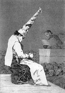 Reo de la Inquisición, los Caprichos de Goya