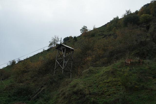 Castillete de elevación, minas de Puras de Villafranca