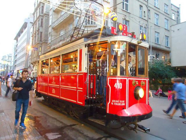 Viejo tranvía de Taksim