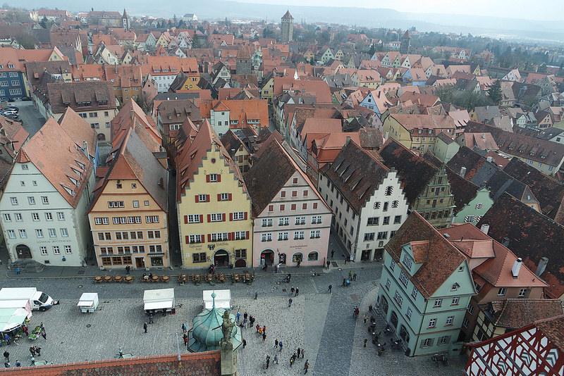 Rothenburg desde la Torre del Reloj, Romántica Alemania