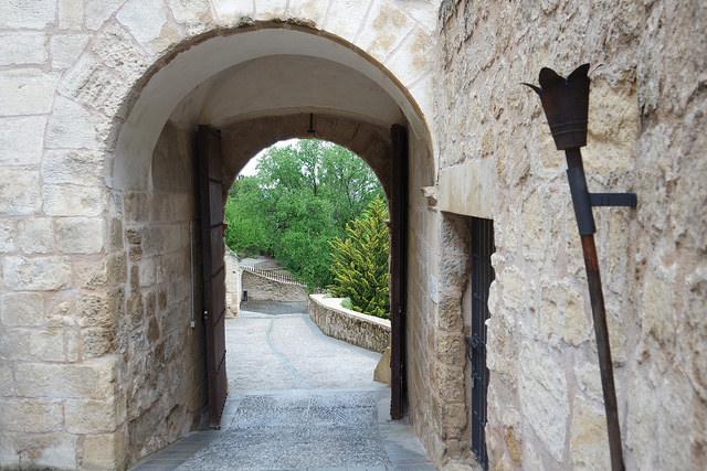 Arco de entrada, fortaleza de la Mota