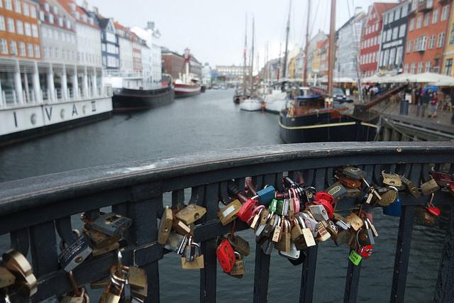 Candados de amor en Copenhague
