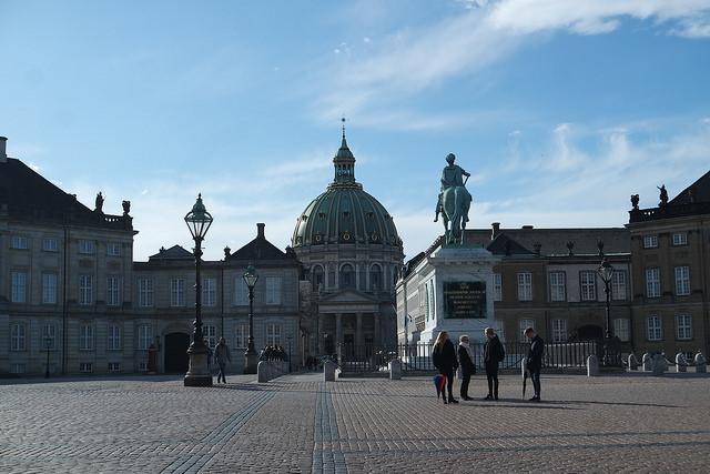 Plaza de la reina Amelie,Copenhague lowcost