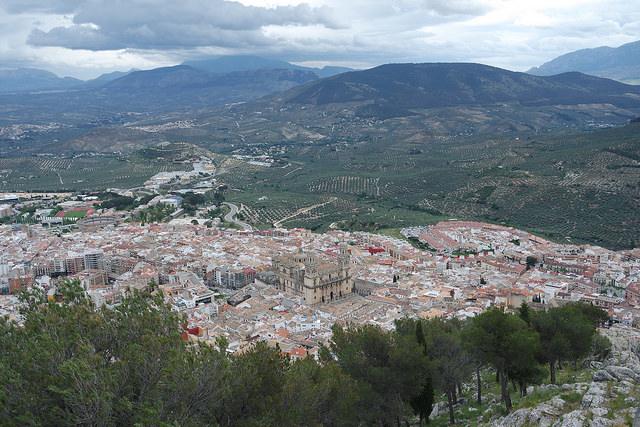 Vistas de Jaén desde la Cruz