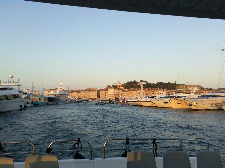 En barco a Saint Tropez