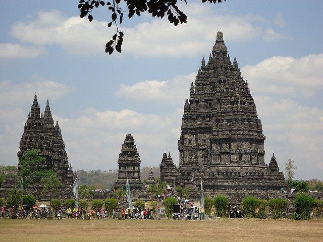 Templo de Prambanam en Java