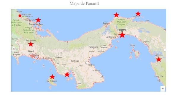 Ruta de 24 días por Panamá.