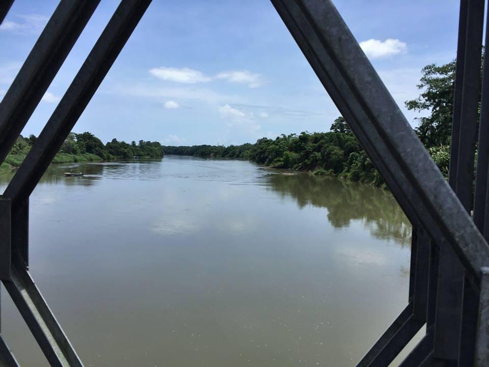 Río Sixaola, frontera entre Panamá y Costa Rica