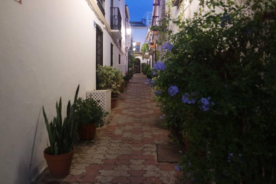 Calles del centro histórico de Marbella