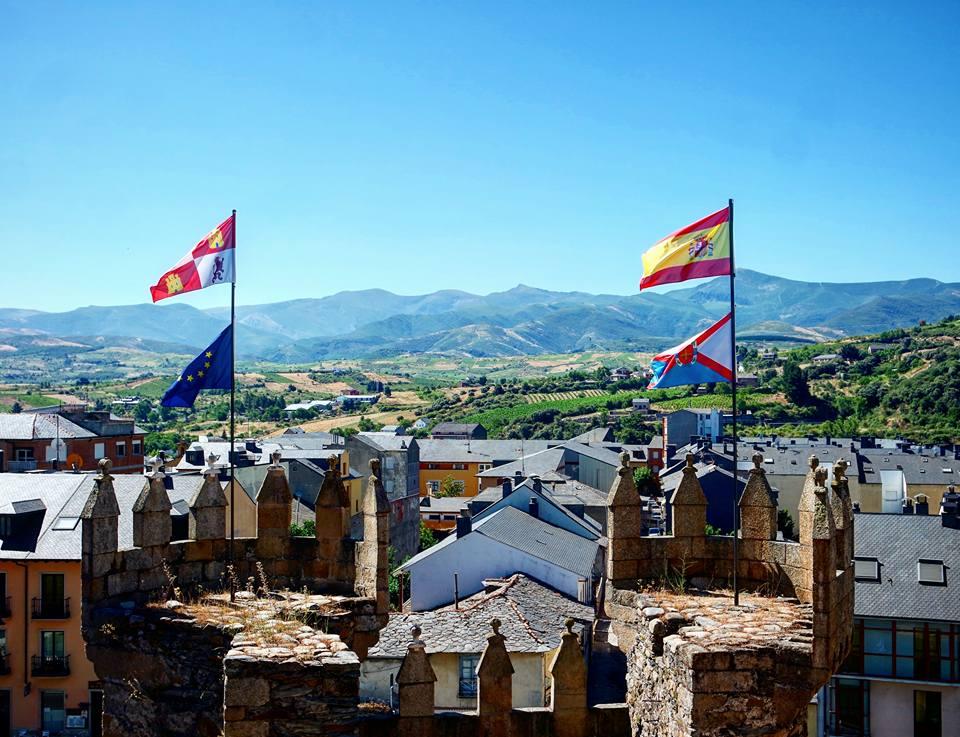 Vistas desde el castillo Templario de Ponferrada