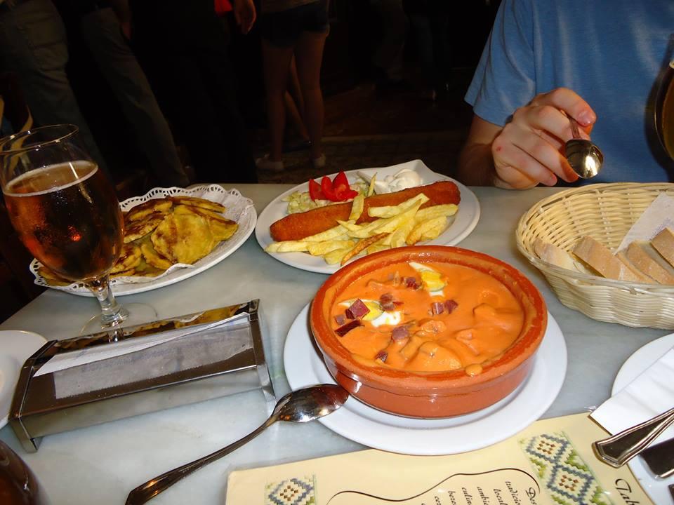 Salmorejo, Taberna Salinas. Los mejores bares de Córdoba
