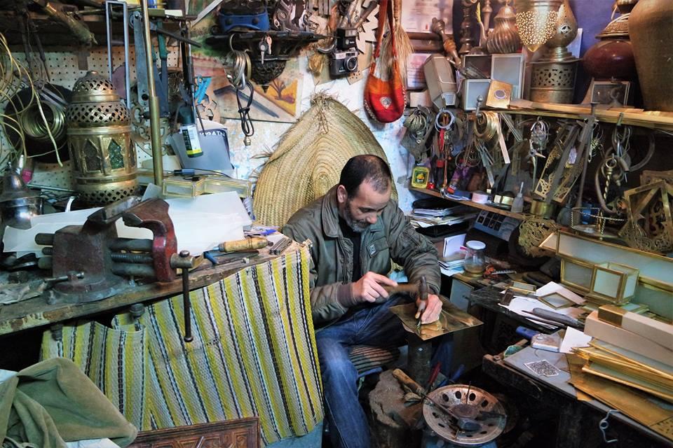 Tiendas de artesanos del metal, qué ver en Tánger