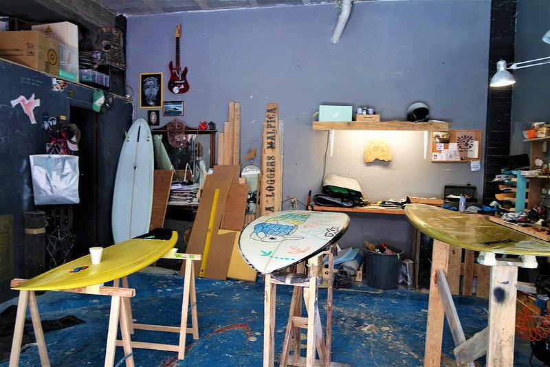 Carballo, taller de tablas de surf