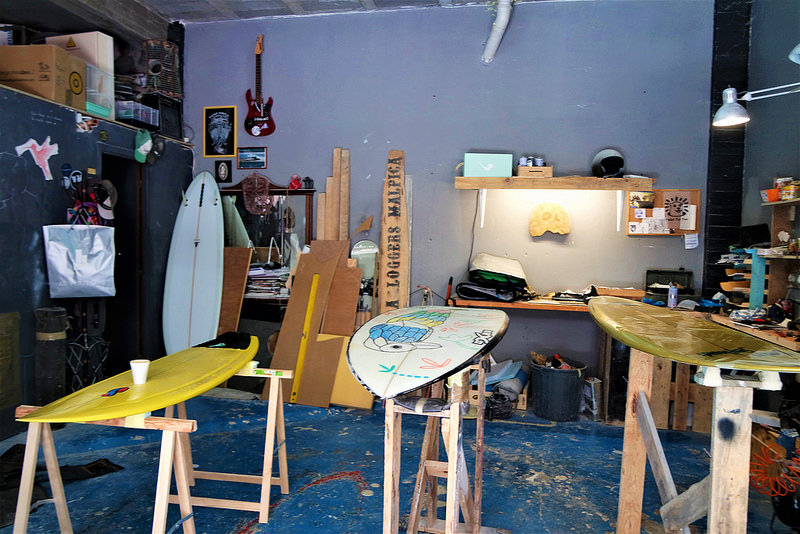 Carballo, taller de tablas de surf