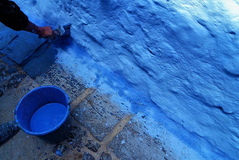 Pintado de azul Chefchaouen