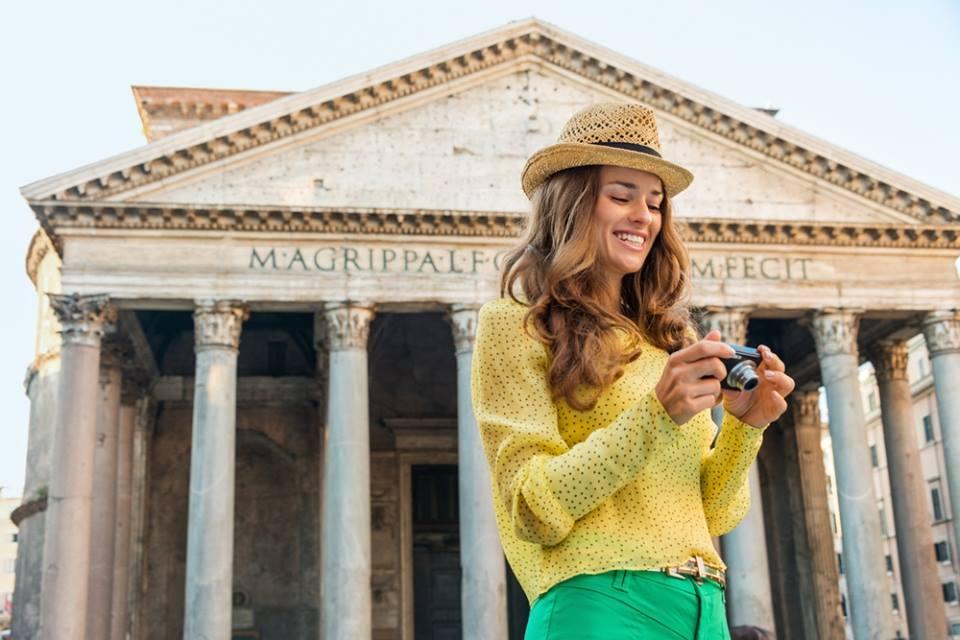 Equipaje para viajar a Roma
