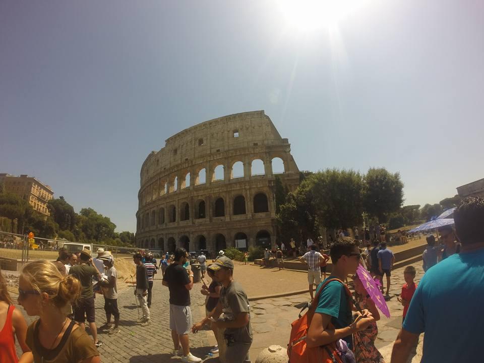 Sol de verano en el Coliseo