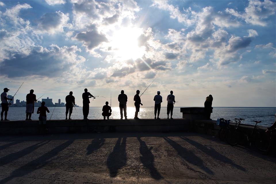 Atardecer en el Malecón, La Habana