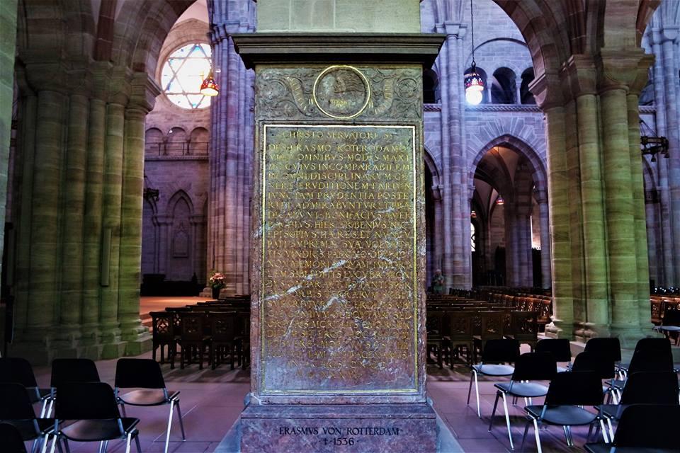 Tumba de Erasmo de Rotterdam, catedral de Basilea
