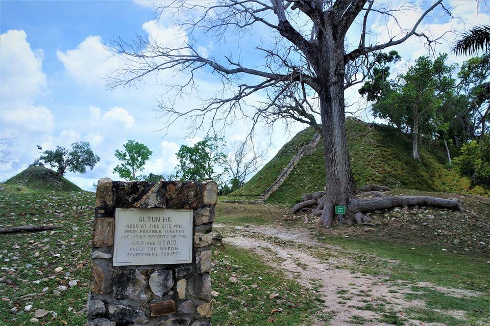 Entrada a Altún Ha, la ciudad maya de Belice