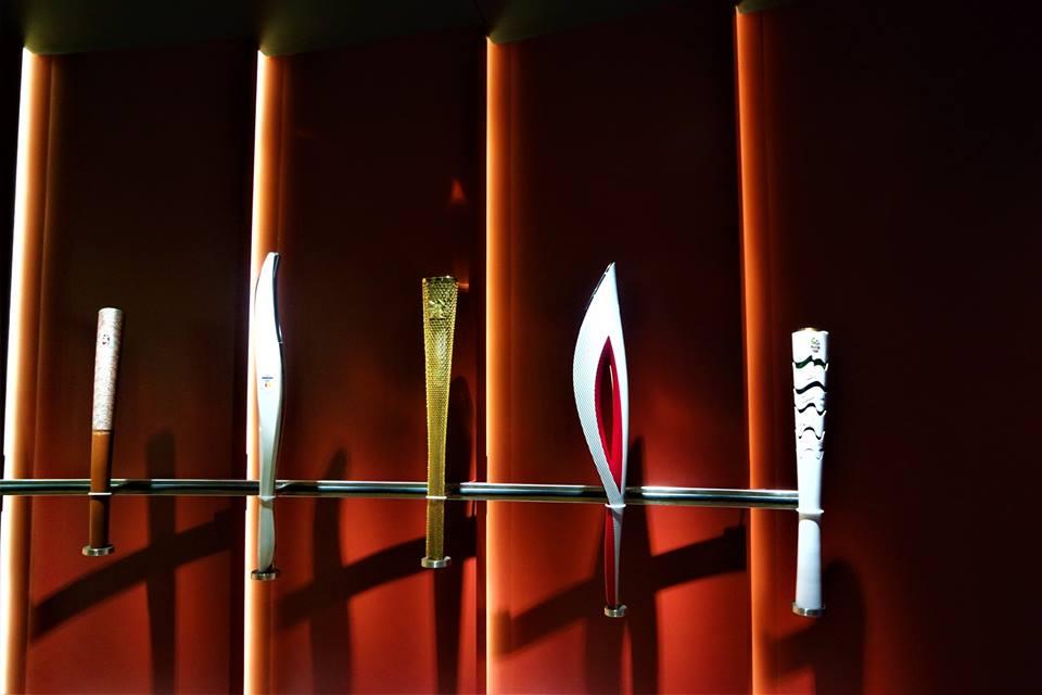 Antorchas olímpicas, museo Olímpico de Lausanne