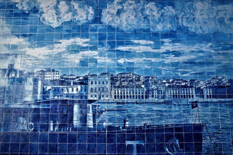 Azulejos de Lisboa, mirador de Santa Lucía